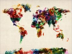 Abstract Map of the World...