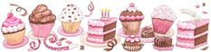 Cupcake art | Dibujos de cupcakes para imprimir:Imagenes y dibujos para imprimir