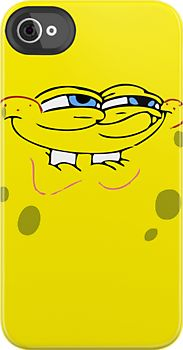 Spongebob Smug Face by bammydfbb IPHONE CASE. OMG. THIS IS GOING IN MY FAVORITES