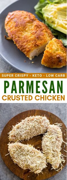 This keto parmesan crusted chicken is fast to make in your Air Fryer. Keto parm chicken is the perfect choice iif you are on a lowcarb diet. Parmesean Crusted Chicken, Low Carb Chicken Parmesan, Baked Chicken, Keto Chicken, Chicken Parmigiana, Chicken Legs, Crispy Chicken, Chicken Recipes, Low Fat Low Carb