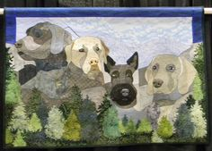"""Mt. Ruffmore"" by Pauline Salzman:  -- World Quilt Show Florida 2012.  Photo by jckirner, via Flickr"