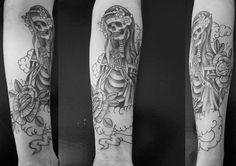 #santamuerte, #Skulltattoo, #rose, #flower, #skull