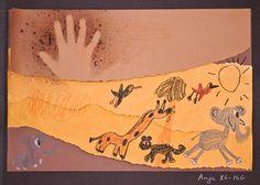 Kinder cave art