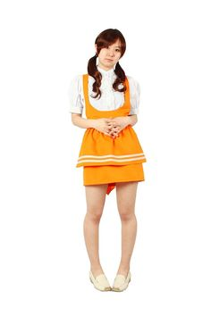 Milica Books Anna Miller's waitress uniform orange Cosplay Costume Size M ** Want to know more, click on the image.