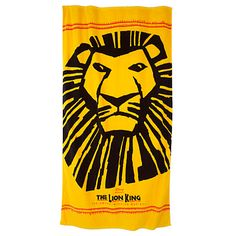 awesome beach towels. Yellow And Black The Lion King Beach Towel - Awesome Towels W