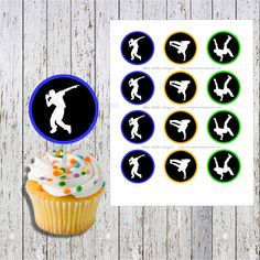hip hop cupcake dance cupcake hip hop party by WhitePalaceDesigns, $3.99