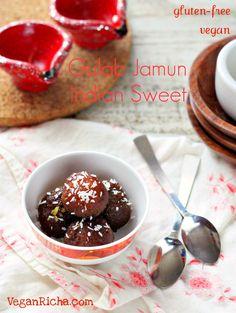 The Best Vegan & Glutenfree Gulab Jamuns. Dairyfree Eggless Recipe - Vegan Richa