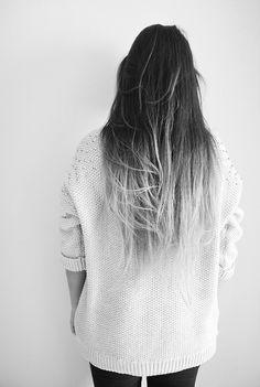 black grey ombre hair