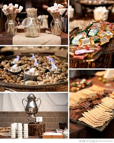 24 Best Smores Bar Ideas For Wedding Party - weddingtopia Wedding Menu, Wedding Reception, Rustic Wedding, Wedding Day, Dream Wedding, Reception Food, Wedding Desserts, Summer Wedding, Wedding Stuff