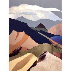 Paper Trails: Virtual Exhibition, New Collages by Janice McDonald Collage Landscape, Paper Trail, Artwork Display, Collages, Mountains, Gallery, Travel, Viajes, Roof Rack