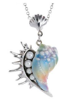 Franz Seashell Design Porcelain Necklace