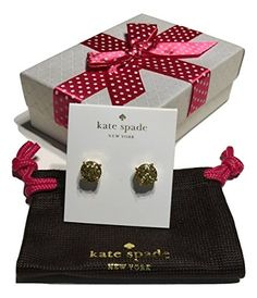 Kate Spade New York Stud Earrings (Gold Glitter) >>> Click on the image for additional details. (Amazon affiliate link)