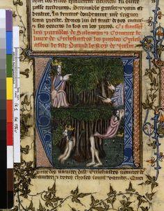 Français 1, fol. 196v, Songe de Nabuchodonosor : arbre