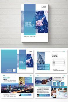 Blue corporate high-end Brochure Template Brochure, Design Brochure, Booklet Design, Brochure Design Inspiration, Brochure Layout, Page Layout Design, Web Design, Book Layout, Case Study Design
