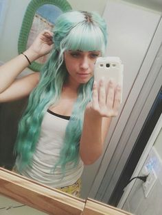 mint green waves | hair colors and styles