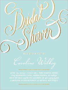 Splendid Script Bridal Shower Invitation
