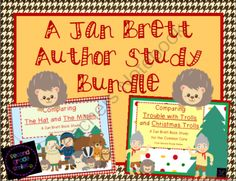 Jan Brett Author Study Bundle from Second Grade Smiles on TeachersNotebook.com -  (52 pages)  - This Jan Brett Author Study Bundle includes essential question posters, author study graphic organizers, and themed letter writing paper, along with my Comparing The Hat and The Mitten: A Jan Brett Book Study and Comparing Trouble with Trolls and Christma