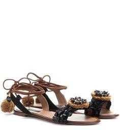Dolce & Gabbana Raffia And Suede Sandals For Spring-Summer 2017