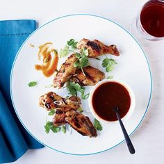 Molasses Barbecue Sauce   Adam Perry Lang's barbecue sauce—sweet, spicy and sticky—pairs perfectly with his super-flavorful chicken wings.