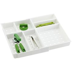 Good Grips® Adjustable Drawer Organizer | The Container Store