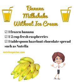 Banana Milkshake without Ice Cream #banana #milkshake via @nutriinspector