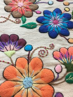This item is not available. Crewel Embroidery Kits, Embroidery Stitches Tutorial, Hand Embroidery Designs, Embroidery Thread, Embroidery Flowers Pattern, Embroidered Flowers, Bordado Floral, Mexican Embroidery, Brazilian Embroidery