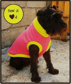 Fleece Dog Sweater Pattern Tutorial