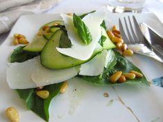Zucchini Basil Salad with Pine Nuts