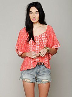 Mixed Print Top in clothes-tops