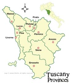 Find your way on your Tuscan Vacation Tuscany Maps and Travel Guide