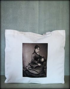 Tintype Tote  Lady With Fabulous Hair by ScarlettSlipper on Etsy