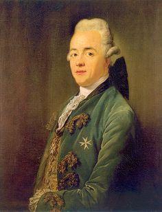 """Anton Graff, """"Josef Friedrich von Racknitz, Caballero de la Orden de Malta"""", óleo sobre tela, 1790."""