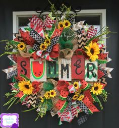 Summer watermelon wreath
