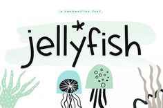 Jellyfish - A Fun Handwritten Font - Free Font of The Week was our Free Premium Font Of The Week. Our Free Font Of The Week is available each week exclusively from Font Bundles. Grab your free fonts for a limited time only Handwritten Fonts, Typography Fonts, All Fonts, Lettering, Fancy Fonts, Otf Font, Best Free Fonts, Font Free, Cricut Fonts