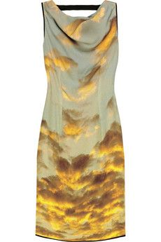Christopher Kane Cloud-print silk dress