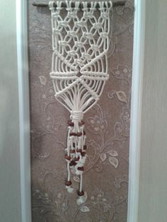 handmade Pano macrame 100% cotton decorated от SunHeatIntheHouse