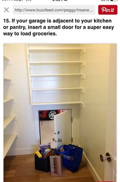 Make unloading groceries easier by building a trap door to the garage - 37 Home Improvement Ideas to Make Your Living Space Even More Awesome Diy Casa, Small Doors, Parade Of Homes, Simple House, Simple Living, Home Organization, Organizing Life, My Dream Home, Home Projects