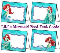 Disney Little Mermaid Food Labels Little Mermaid by ColtelloDesign
