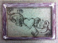 Barbed Wire Art Projects   , Rustic Art Window, Hand Crafted, Wall Hanging, Heart, Barbed Wire ...