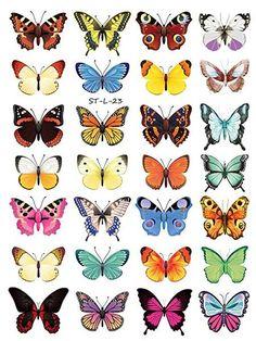 Supperb Temporary Tattoos - Butterflies (28 Butterflies)
