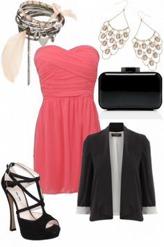 gorgeous pink and black outfit #weddinginspiration