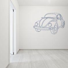 String-art pattern sheet VW BEETLE (95 x 64cm) available at spijkerpatroon.nl