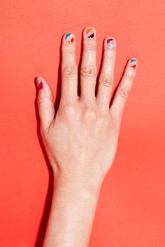 Graphic nail art with MPnails and Sally Hansen