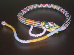 Antique WW1 Turkish Prisoner Beaded Snake Necklace - Beadwork by ShiningDreams on Etsy https://www.etsy.com/listing/537381409/antique-ww1-turkish-prisoner-beaded