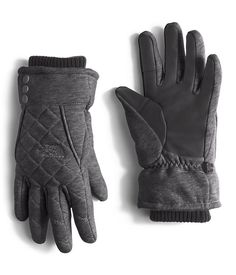 Stay toasty with this insulated, quilted Etip glove that features touch-screen compatibility and a women-specific fit. North Face Women, The North Face, Women's Accessories, Gloves, Fitness, Dark Grey, Canada, Fashion, Moda