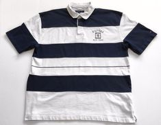 f520a36c6 Vintage Tommy Hilfiger striped color block short sleeve polo men's size XXL  in Clothing, Shoes & Accessories, Men's Clothing, Shirts, Casual Button-Down  ...