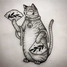 Dog Tattoos, Mini Tattoos, Cat Tattoo, Body Art Tattoos, Small Tattoos, Pretty Tattoos, Beautiful Tattoos, Different Tattoos, Illustration Art