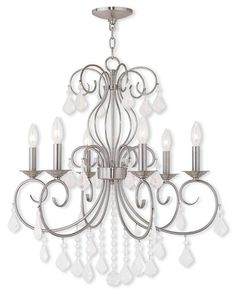 Donatella 6 Light Candle Chandelier