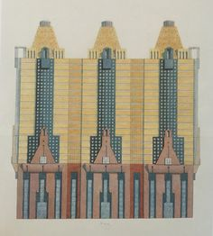 Republic Bank and Texas Theatre, San Antonio, Texas, Michael Graves Building Facade, Building Design, Post Modern Architecture, Michael Graves, Postmodernism, San Antonio, Sketches, Architectural Drawings, Facades