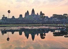 Angkor Wat in Siĕmréab, Cambodia